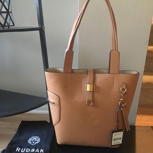 Rudsak Prima tan leather designer handbag